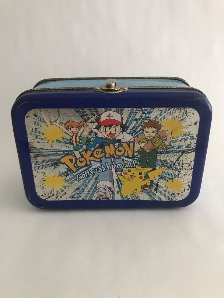Rare 1990's Original Pokemon Tin Nintendo Lunch Box