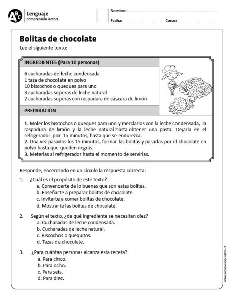 Bolitas de chocolate