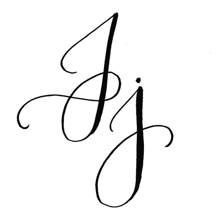 Best calligraphy the letter j images on pinterest