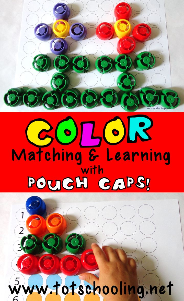 Toddler color learning games - Color Matching Printables For Toddlers