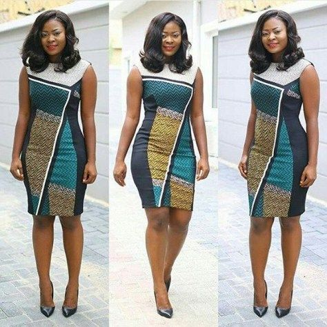 Simple Ankara Short Gown Design .... Simple Ankara Short Gown Design