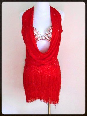 fd3b2d6d63 Red Flash. Find this Pin and more on Ballroom Rental Dresses - Rhythm    Latin by Dazzle Dance Dress Rentals.