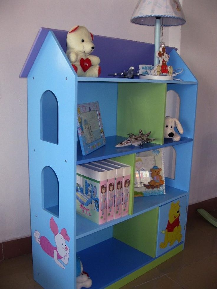 Dinosaurs Mdf Toy Box Childrens Storage Toys Games Books: Wooden Doll House Bookcase