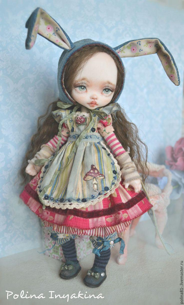 Купить Little me - брусничный, голубой цвет, кукла ручной работы, кукла в подарок