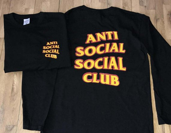 New Anti Social Social Club Long T-shirt by printtee10 on Etsy
