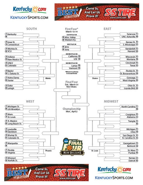 Download your printable NCAA bracket at http://www.kentucky.com/2012/03/11/2105744/pdf-ncaa-mens-basketball-tournament.html