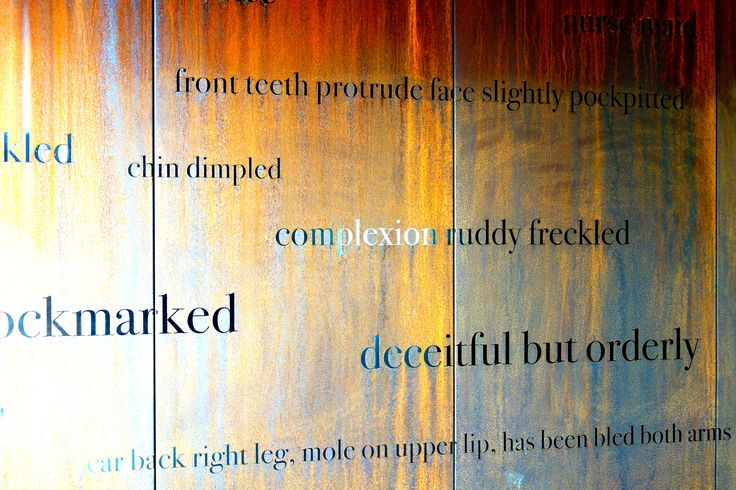 Descriptions from the female convict Indent, transcribed at Cascades Female Factory, Hobart.