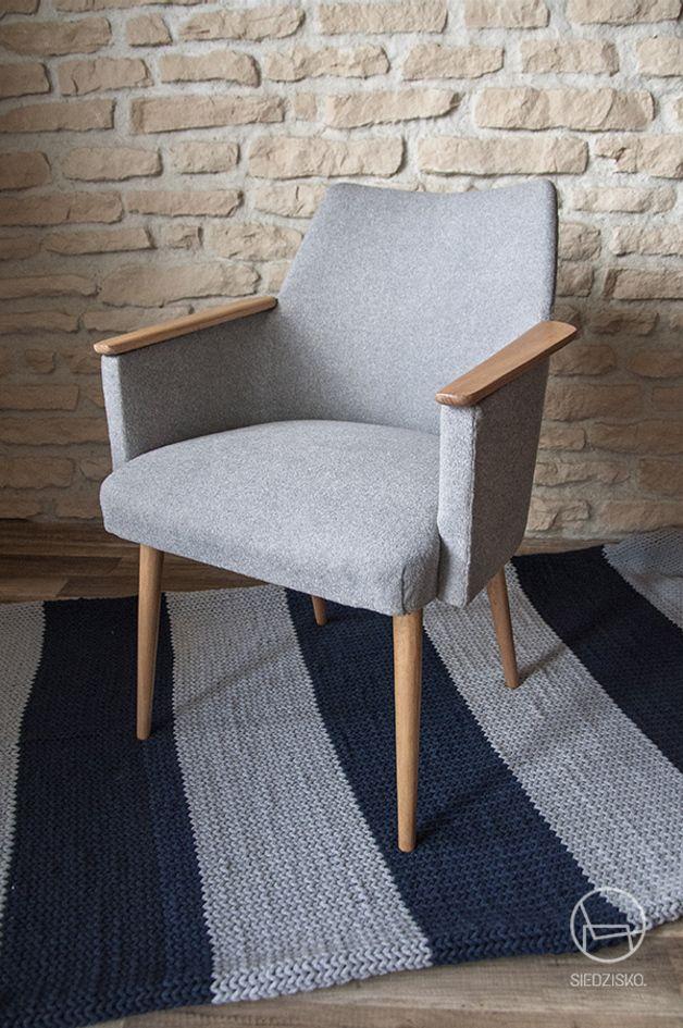 #fotel #house #interior #dawanda #dawanda_pl #grey #vintage Nordyk. Fotel PRL w skandynawskim wydaniu. - Siedzisko - Kanapy i fotele