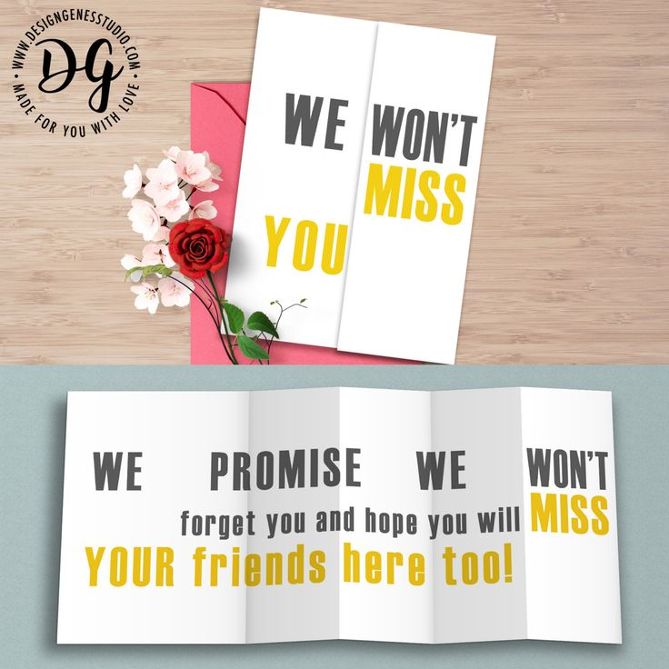 "Funny retirement farewell card ""We won't miss you"" hidden message card"