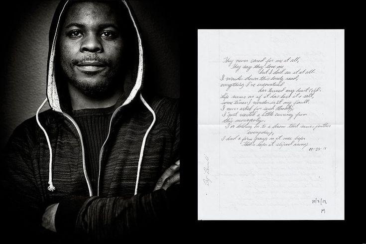 """""""Finding Freedom"""" (Ritrovando la libertà) è una collezione di ritratti di ex detenuti - fotografati da  Sandro Miller  - e di poesie scritte da loro. Da sette anni Brandon Crockett tiene delle lezioni di poesia come volontario al St. Leonard's Ministries di Chicago (Illinois,"""