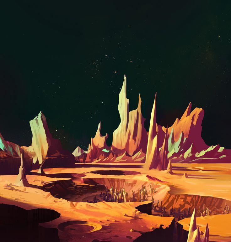 Joshua Middleton Online: Green Lantern Animated concept: Rigel Ruins