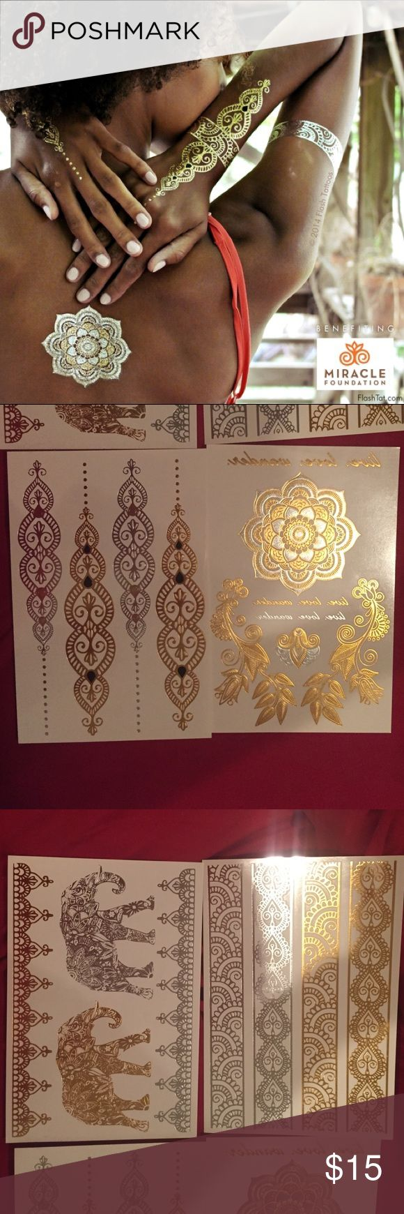 Sheebani Flash Tattoos Box has been opened but comes with. All four sheets with all tattoos. Perfect new condition. Flash Tattoo Makeup