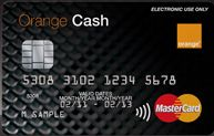 Orange cash card