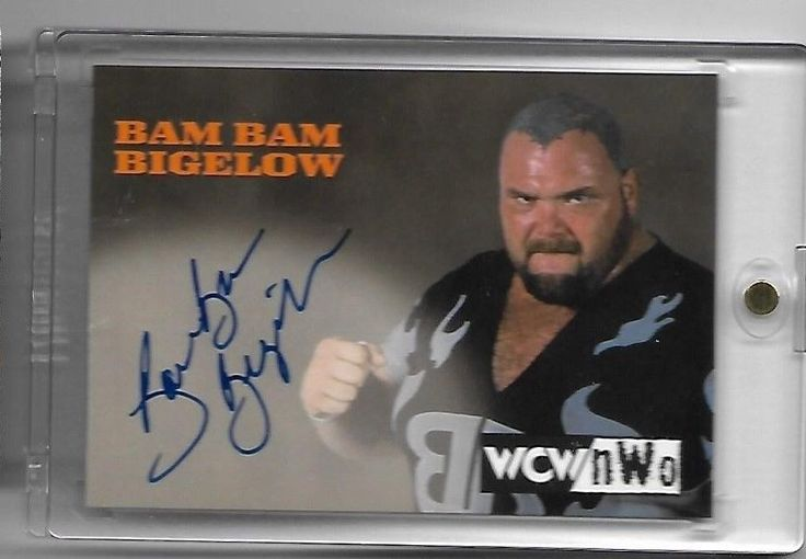 Wrestling Cards 183435: 1998 Topps Wcw Nwo Bam Bam Bigelow On Card Auto Wcw Nwo Rare -> BUY IT NOW ONLY: $220 on eBay!