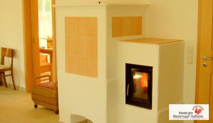 Moderner Kachelofen mit 2 Ebenen. #Ofen #Kamin #Fireplace www.ofenkunst.de
