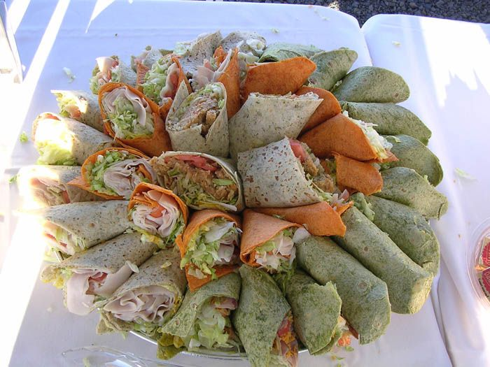 I like the idea of wraps instead of sandwiches.