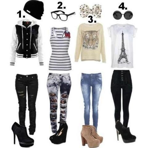Cute/swag outfits for teen girls. I would wear almost all of it except the heels....
