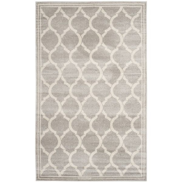 safavieh indoor outdoor amherst light grey ivory rug 9u0027 x