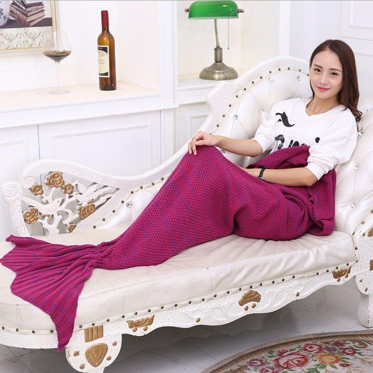Knitted Mermaid Blankets