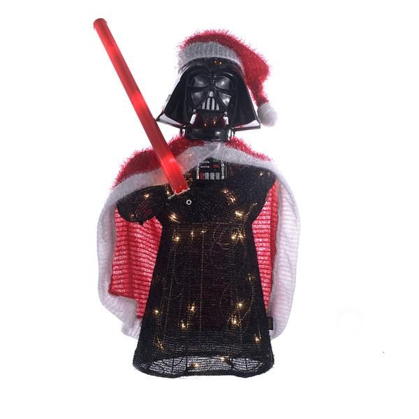 "UL 50/L 28"" VADER TINSEL LAWN DECOR W/60"" WHITE LEAD WIRE & 2.5V 0.14A CLEAR INCANDESCENT BULB. INDOOR/OUTDOOR"