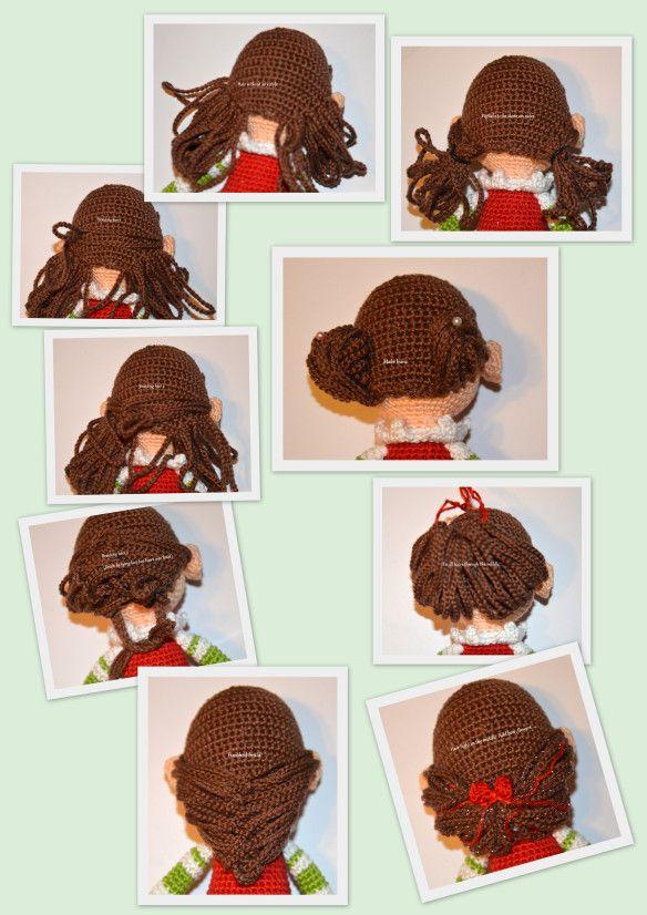 Amigurumi Doll Hair Tutorial : Elf girl s hair amigurumibb amigurumi faces