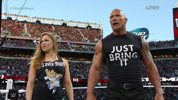 ronda rousey wrestlemania shirt