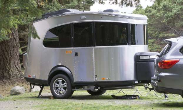 Introduced Last Year The Basecamp Is Airstream S Entry Level Travel Trailer This Small But Versati Airstream Basecamp Tiny Trailers Little Guy Trailers