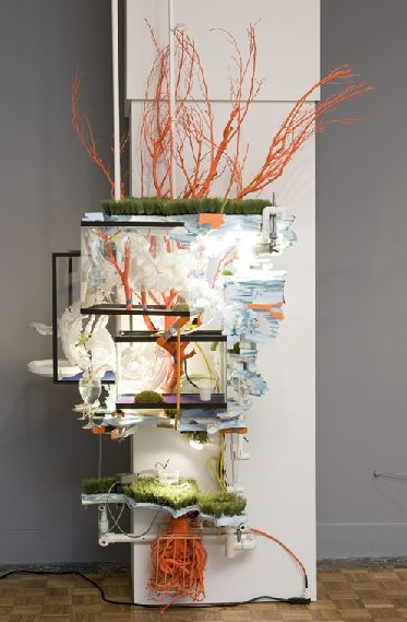 """Sarah Sze, """"Sexton (From Triple Point of Water)"""", 2004/2005. Courtesy DIA and Marianne Boesky Gallery."""