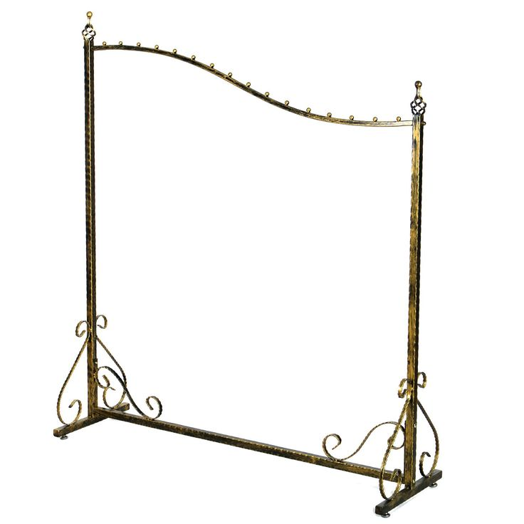 Songmics Perchero de metal para colgar ropas, soporte para colgar ropa Barra para colgar ropa percha color cobre, 150 x 130 x 40 cm HRA001