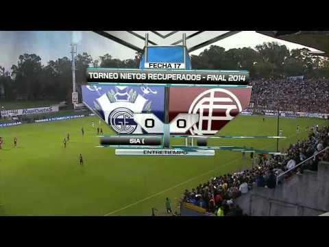 Fútbol en vivo. Gimnasia LP - Lanus. Fecha 17. Torneo Final 2014.