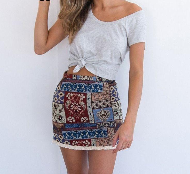 Summer Boho Vintage Skirt