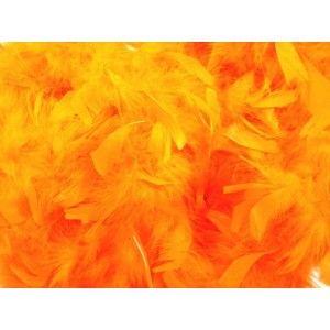 Boa orange en plumes, accessoire déguisement, carnaval, Halloween, Hawaï, fêtes http://www.baiskadreams.com/886-boa-orange-en-plumes.html
