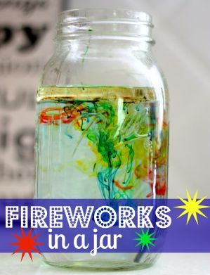 Fireworks in a jar! Great craft/activity for younger kids this Fourth of July, or for families in states where fireworks may be illegal or hard to see. Independence Day fun, coming right up!