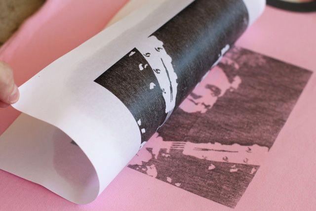 how to transfer a photo copy to fabric using Citrasolv #diy #tutorial