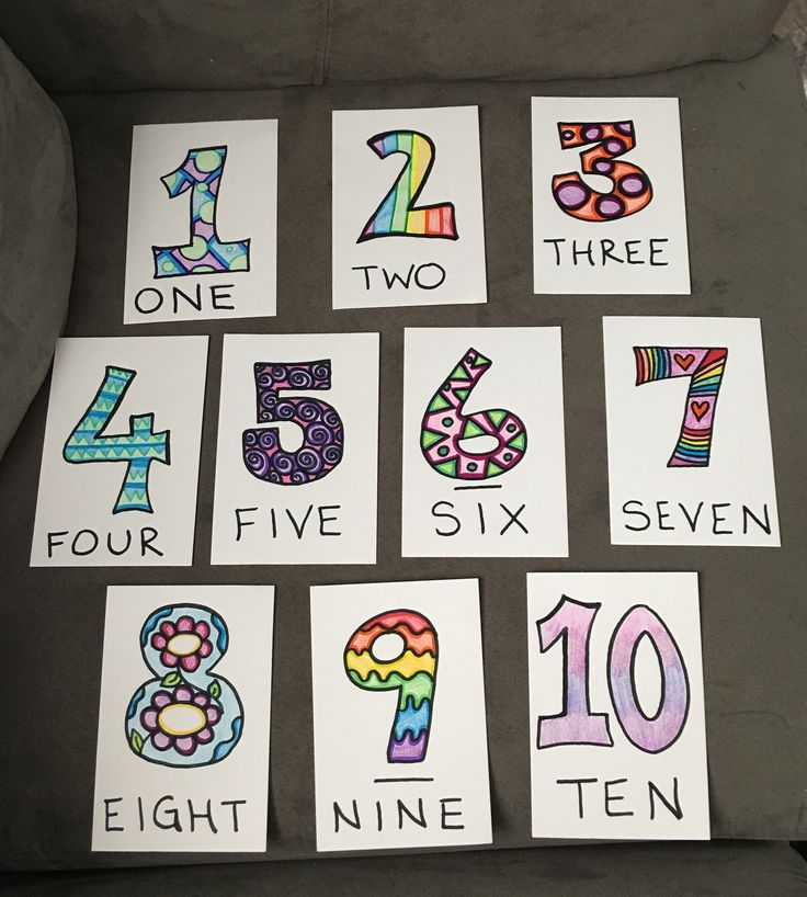 DIY Number Flashcards For Toddlers To Make Learning More