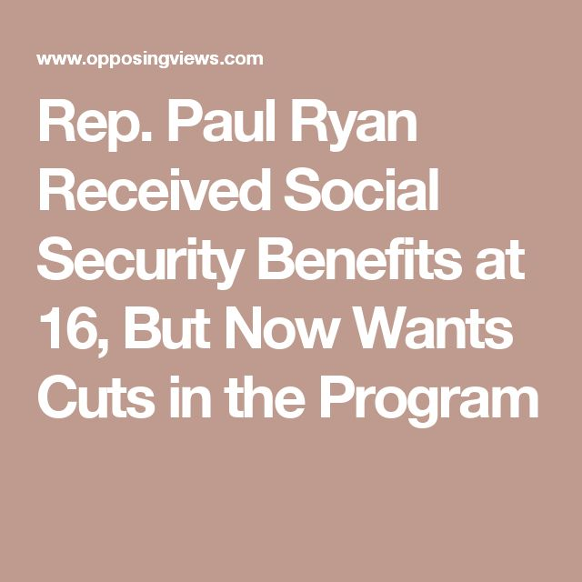 Rep. Paul Ryan Received Social Security Benefits at 16, But Now Wants Cuts in the Program