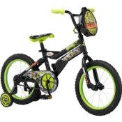 Boys 16″ Nickelodeon Teenage Mutant Ninja Turtles Bike, Black w/ Training Wheels…