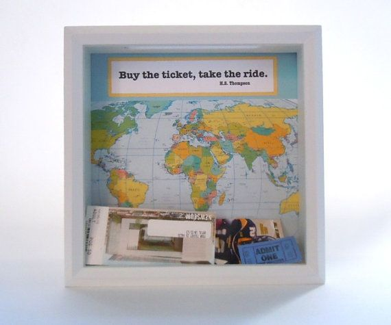Drop Top Display Box Shadow Box Ticket Holder by HipLittleSquares