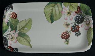 Pimpernel Melamine Sandwich Tray -- Eden Fruits pattern, by Portmeirion.