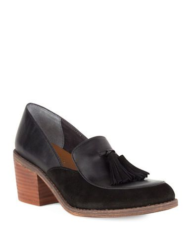 Shoes   Mid Heels   Descent Heeled Leather Oxfords   Hudson's Bay