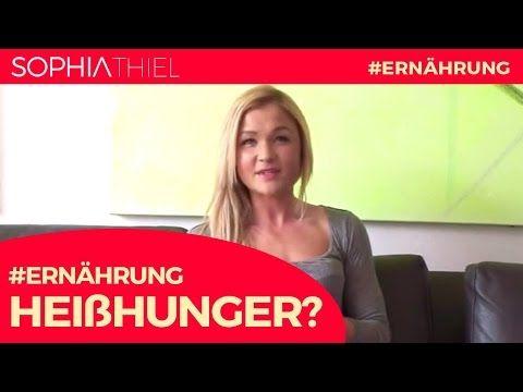 Effektive Tipps gegen Heisshunger | Sophia Thiel - YouTube