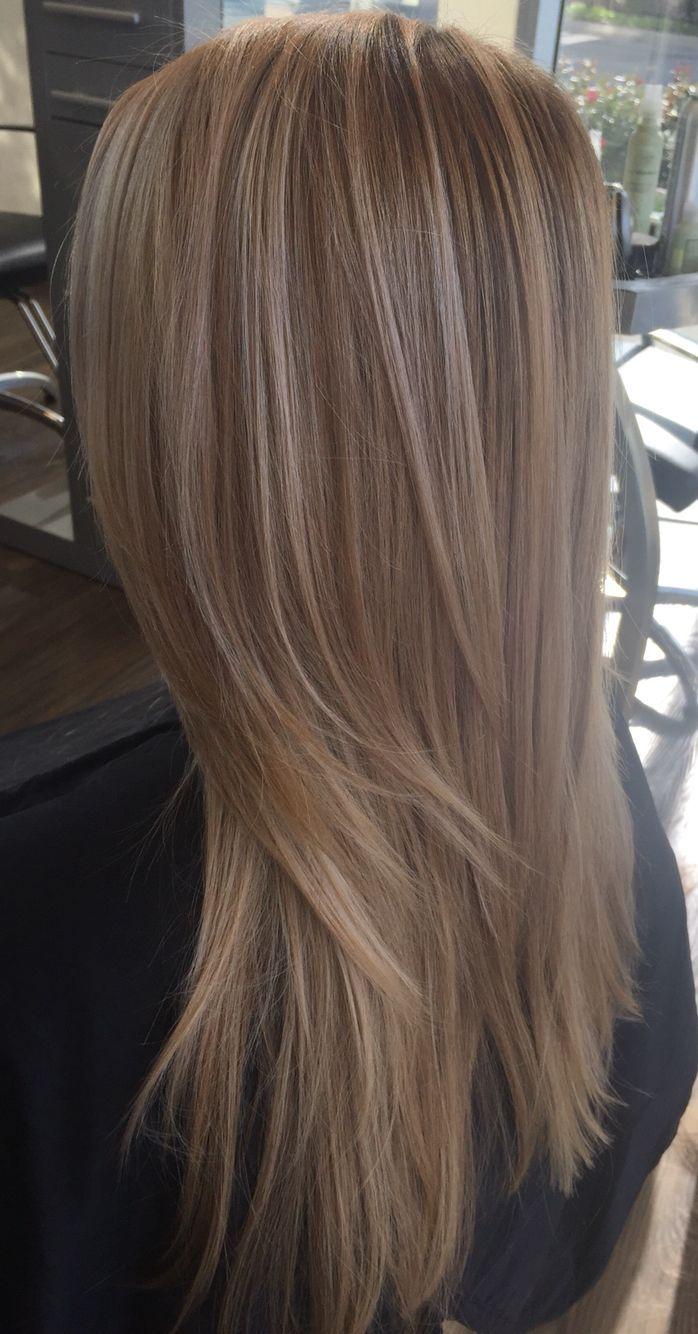Vanilla Beige Blonde Balayage Medium Hair Pinterest