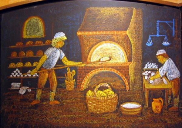 Waldorf ~ 3rd grade ~ Trade ~ Baker ~ chalkboard drawing