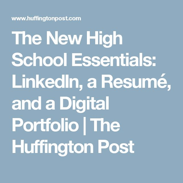 17 best ideas about high school resume on