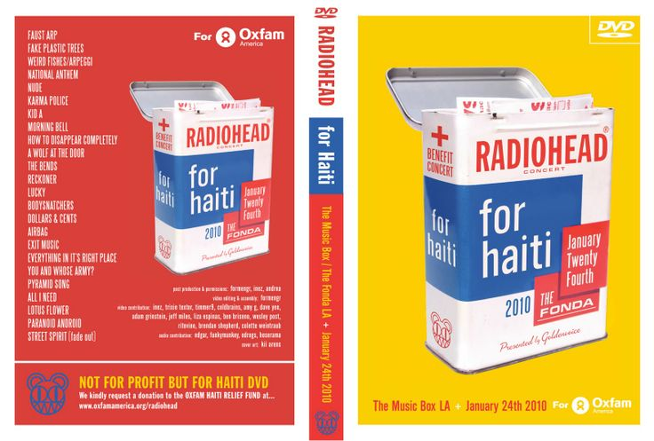 RADIOHEAD for HAITI multi-cam DVD