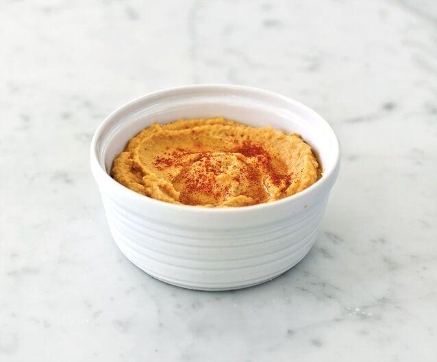 Sweet Potato Hummus and Flatbread