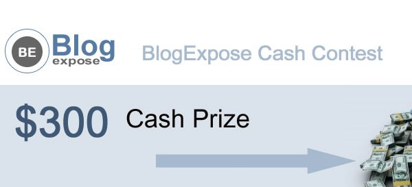 $300 Cash Prize Contest for all bloggers