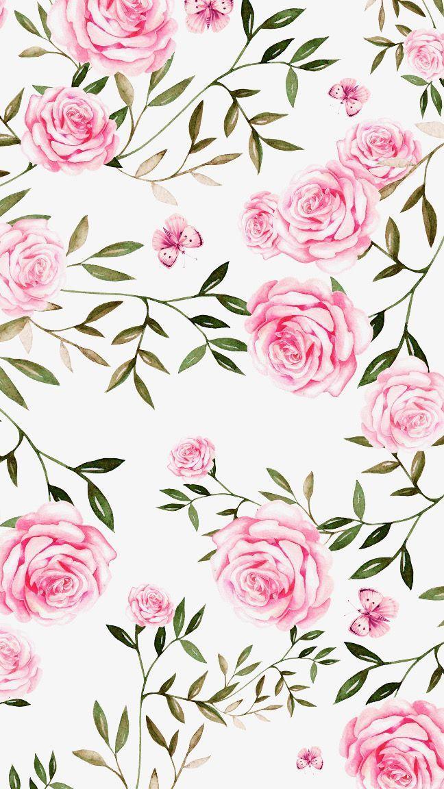 Fond D Ecran Rose Et Vert Pale Et Fleuri Pour Le Printemps Flower Wallpaper Floral Wallpaper Rose Wallpaper