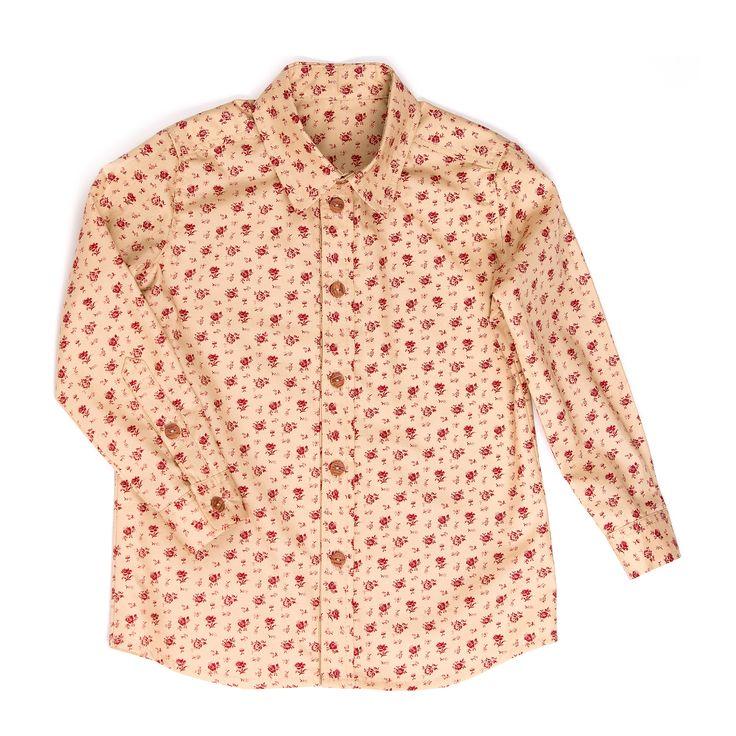 Shirt ''Dragan''  Рубашка приятного бежевого цвета с модным мелким рисунком в цветочек. #yumekidswear #yume #yumemoda #fashion #kids #дизайн #мода #дети #одежда #style #russia #fasionkids