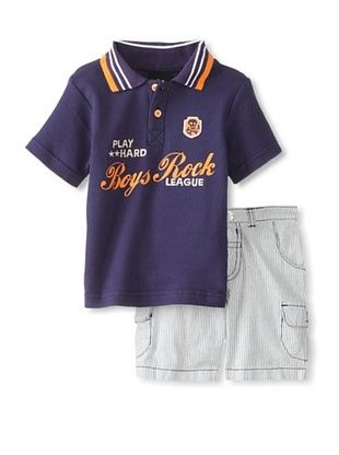 39% OFF Boys Rock Baby 2-Piece Short Set (Navy)